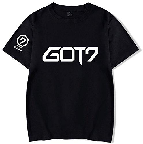 SERAPHY Unisex KPOP Shirt GOT7 T-Shirt für I GOT7 JB JinYoung Mark Jackson Youngjae Bambam Yugyeom Schwarz 28 S