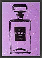ポスター アーティスト不明 Chanel Purple Urban Chic 額装品 ウッドベーシックフレーム(ブラック)