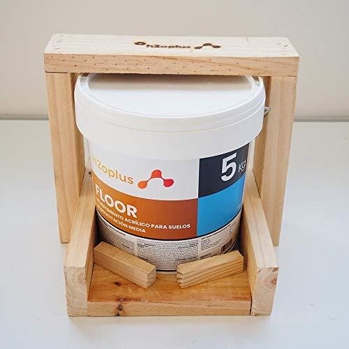 Pintura para Suelos Exterior e Interior Floor Azul 5Kg · Pintura para Suelos Garaje, Hormigon, Asfalto o Baldosa · Producto Natural 100% en Base Agua, SIN Olor a Disolventes Químicos