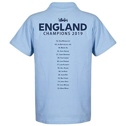 England Kricket Weltmeister Mannschaft Polo Shirt - hellblau - M