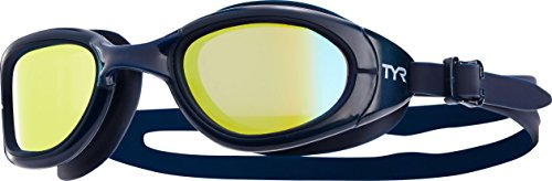 TYR Sport Special Ops 2.0 Polarized Swimming, Gold/Navy/Navy, Size One Size
