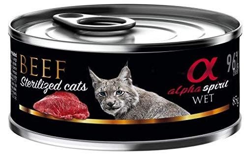 Alpha Spirit Feline Adult Sterilised Buey Lata 85Gr 85 g