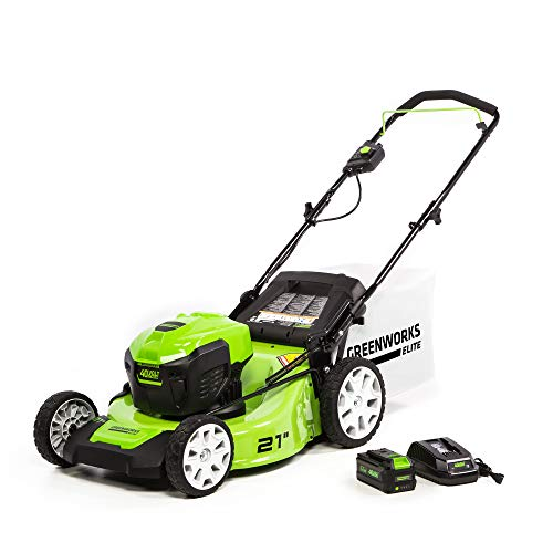 Greenworks 40V 21 in Brushless Push Mower, 6Ah Battery & Charger Included, M-210
