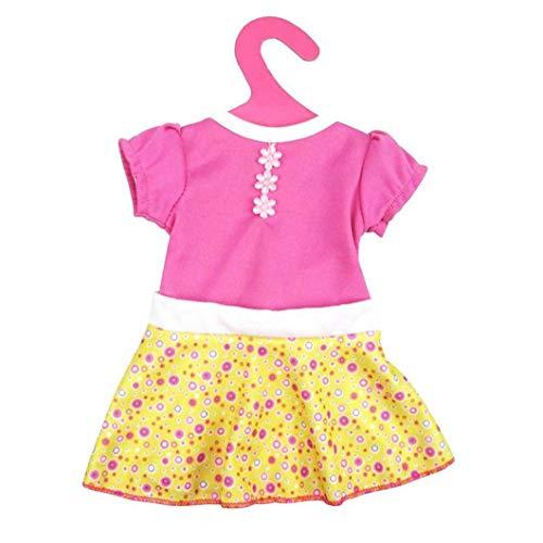 xuew Mode-Kleid für 18 Zoll American & 43 cm Born Baby Doll Kleidung Accessoires Generationen Geburtstag des Mädchens Geschenk
