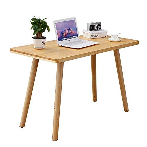 ZWJLIZI Desk, Japanese-Style Solid Wood Computer Desk, Simple Double Household Pine Desk, Bedroom Study Desk (Size : 120x50x75cm)