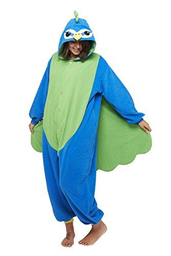 Sazac Kigurumi Pfau aus Fleece aus Japan Kostüm Schlafanzug Overall