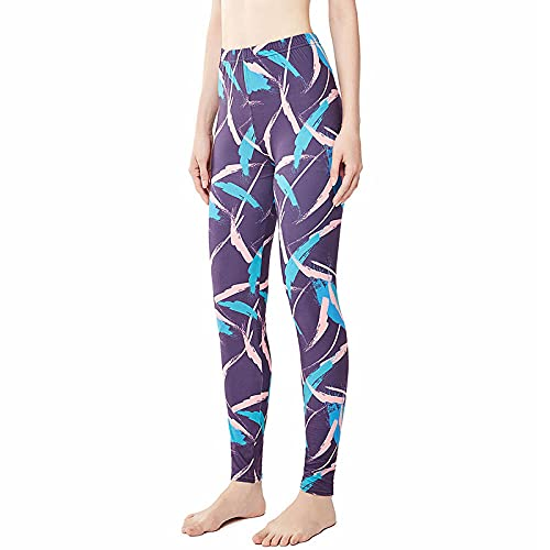 ArcherWlh Pantalones De Yoga,Cepillo de línea Cepillo Pantalones de Yoga Otoño Nuevo 3D Leggings de Estampado Digital Femenino Leggings de Yoga Femenina-púrpura_2XL / 3XL