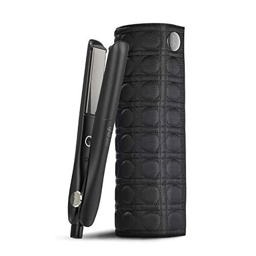 ghd gold styler - Plancha de pelo profesional para todo tipo de cabello, tecnología dual-zone, dos sensores para una temperatura homogénea, alisa, crea ondas o rizos + Neceser térmico plancha de pelo