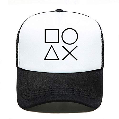 Baseball Kappe Drucken Sommer Baseball Cap Playstation Controller Frauen Männer UniParent-Kind Hüte Mesh Visier Outdoor Sonnenhut
