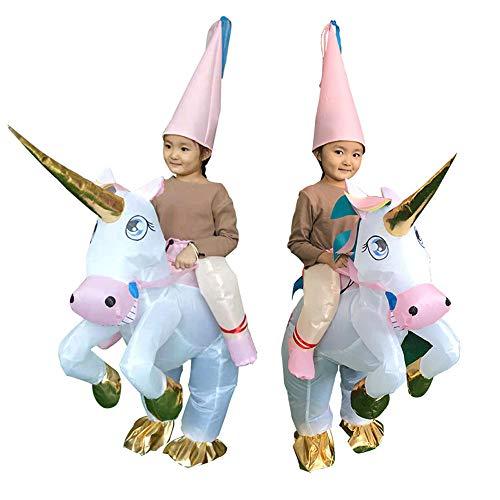 JJAIR Disfraces de Navidad inflables para Chilidren, Navidad del Unicornio Inflable de Vestuario para la Fiesta de rol