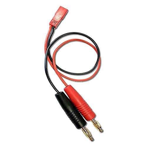 VUNIVERSUM Premium Lipo Akku Ladekabel mit JST BEC Stecker von 2X 4mm Bananenstecker Goldstecker 30cm 20AWG Kabel von Mr.Stecker Modellbau®