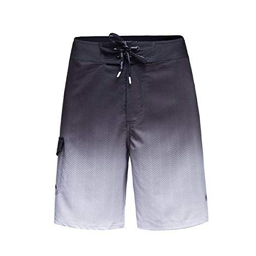 Rokka&Rolla Men's 4-Way Stretch Quick Dry Swim Trunks Board Shorts