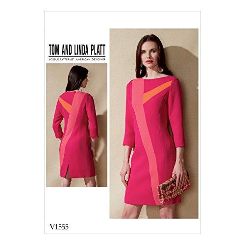 Vogue half-getailleerde pasvorm misse jurk, meerkleurig, maat 6-14