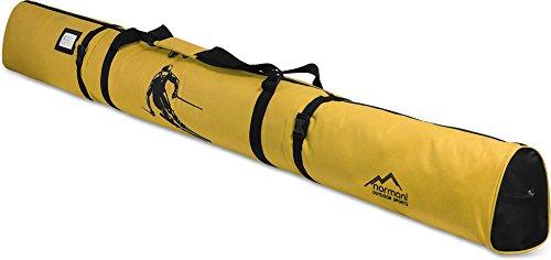 normani Skitasche 200 cm Skisackhülle für 1 Paar Ski und Stöckern Farbe Gelb