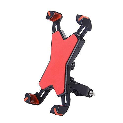 YouthRM Soporte para Bicicleta con Soporte para Teléfono y 4 Brazos de Abrazadera Telescópicos para una Gran Estabilidad, Rotación de 360 ° Entre 4,5 y 7,2 Pulgadas,Red