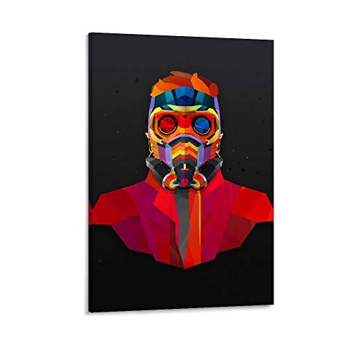 DRAGON VINES Póster abstracto de anime Guardianes de la Galaxia, Star-Lord Superhéroe, impresión artística, póster artístico para sala de estar o baño, 50 x 75 cm
