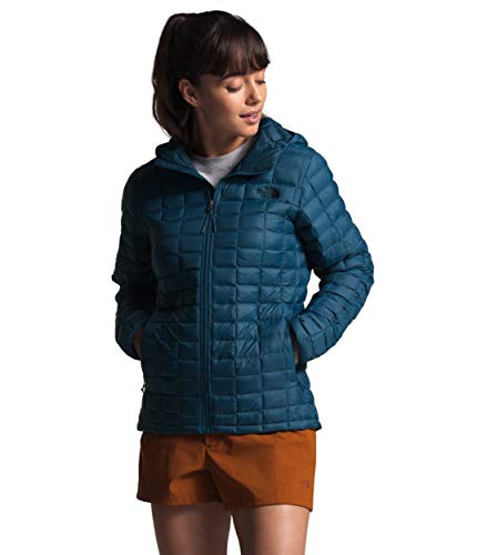 The North Face Women's Thermoball Eco Hooded Jacket, Blue Wing Teal Matte, M
