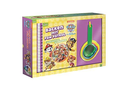 Backen mit PAW Patrol: Back-Set für Kinder mit Rezeptbuch und 5 Messbechern