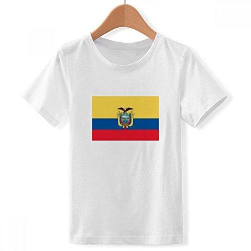 DIYthinker jongens Ecuador nationale vlag Zuid-Amerika land bemanning nek wit T-Shirt