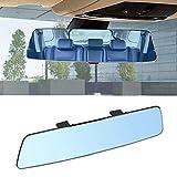 Espejo retrovisor panorámico 2.5D para coche, color azul, 280 mm