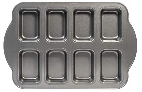 Non-Stick Original Mini Loaf Cake Baking Pan Sheet, 8-Cavity