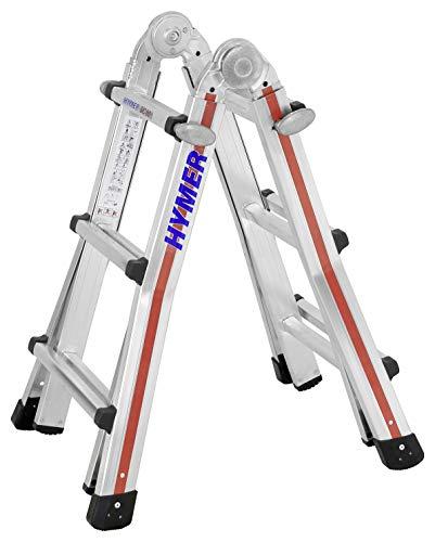 Hymer telescopische ladder TELESTEP 4x3 (10 sporten, aanlegladder, staande ladder, in hoogte verstelbaar 25 cm stappen) 804212