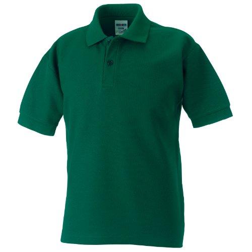 Jerzees Schoolgear Kinder Pikee Polo Shirt (5-6 Jahre) (Flaschengrün)