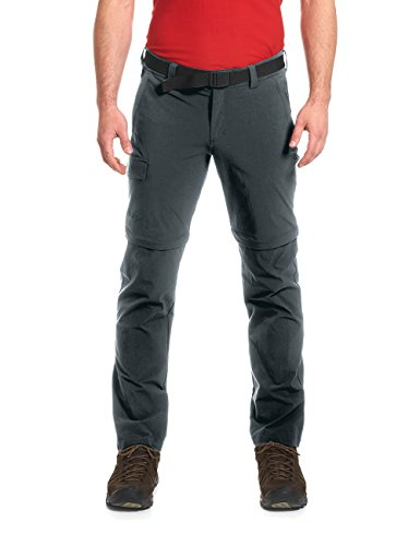 MAIER SPORTS, Herren Torid Slim Zip Hose,Grau (grey - graphite), 54