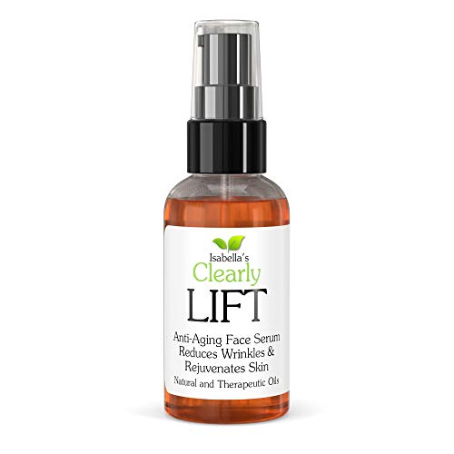 Clearly LIFT, Natural and Organic Anti Ageing Face Serum Moisturiser, Wrinkle Reducer, Erase Fine Lines, Hydrate Dry Skin, Boost Collagen, Lift Sagging Skin, Correct Dark Circles. 100% Vegan. 60ml