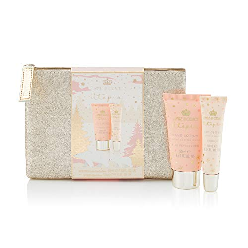 Style & Grace Utopia Glitter Bag Set 50ml Hand Lotion, 10ml Lip Gloss and Sequin Bag