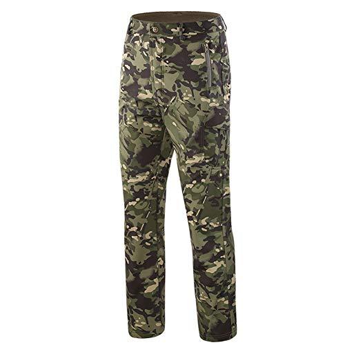 Bruce Lin Hombre Impermeable Militar Táctica Camuflaje Softshell Pantalones Forro Polar Termica...