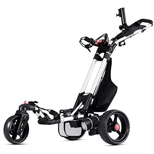 Tangkula Electric Golf Push Cart Manual Control Foldable Umbrella Holder Scorecard Holder Lithium...