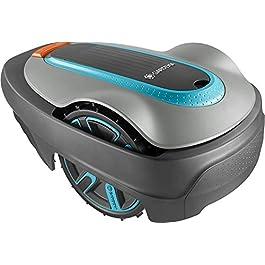 GARDENA SILENO city 250 | Tondeuse Robot jusqu'à 250m² – Tond sous la pluie et passages étroits, Bluetooth App, Capteur…