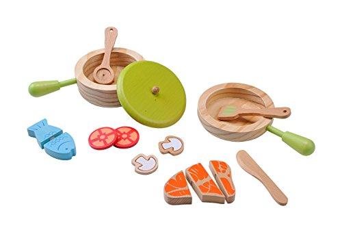 EverEarth Set med träkrukor och stekpannor för barn EE33718