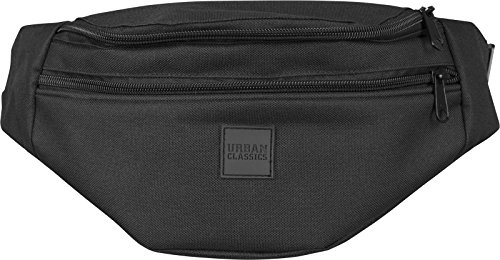 Urban Classics Double-Zip Shoulder Bag Umhängetasche, 39 cm, Schwarz