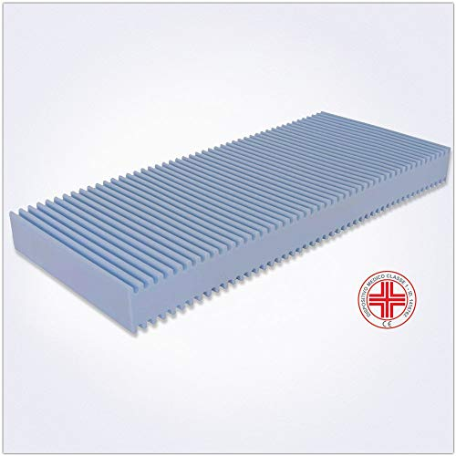 Colchón 70x180 altura 14 cm - modelo Primavera - Colchón Ortopédico, Waterfoam, para cama Plegable, Transpirable, Anti-ácaro