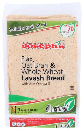 Joseph's Flax, Oat Bran Lavash Bread, (All Natural), 9 oz. 3 Pack