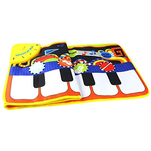AAFF Kinder Klaviermatte, Musikmatte Spieldecke Tanzmatten Touch Musical Teppich Kleinkind Jungen Mädchen Geschenk, Keyboard Matten rutschfest Spielteppich Musik Matte