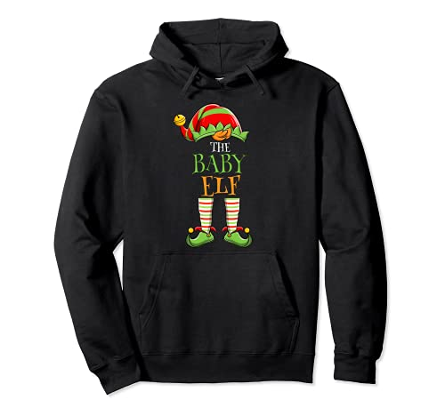 I'm The Baby Elf Matching Family Group Christmas Pajama Pullover Hoodie