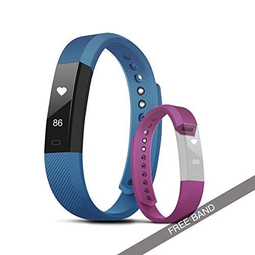 Evershop Wasserdicht Fitness Activity Tracker, Sports Bluetooth Armband Tracker mit Herzfrequenz...