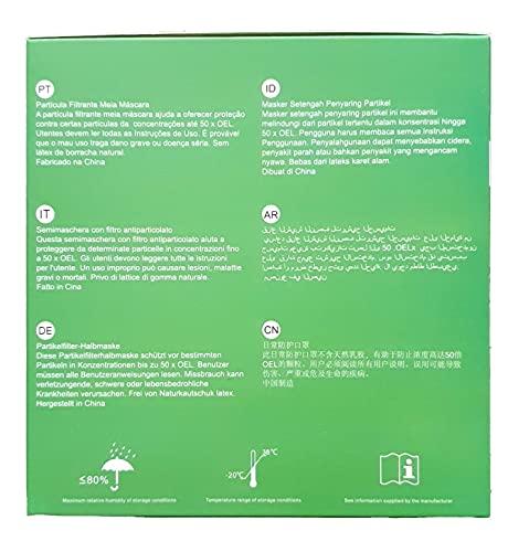 6X FFP3 Atemschutzmaske 99% Filter DreamCan Halbmaske Staubmaske Atemmaske Schutzmaske mit Ventil - 7