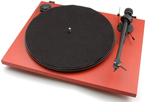 Pro-Ject Essential II - Tocadiscos (Negro, Rojo, 420 x 330 x 112 mm)