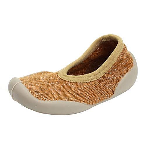 QINJLI babyschoenen, inspuit, zachte onderkant, anti-slip knit bovenste sokken 1-3 jaar oude babyschoenen vloerschoenen slijtvast licht 12-15 cm 12cm