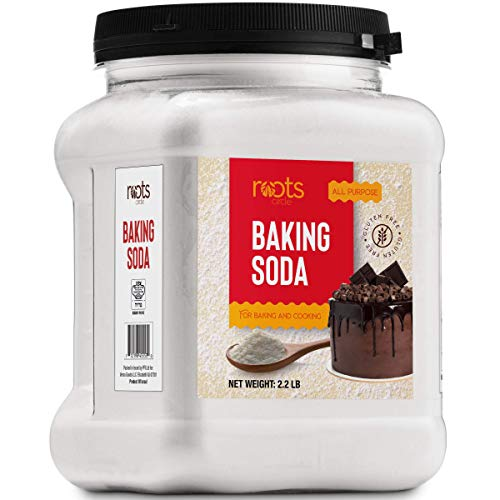 Roots Circle Baking Soda | Bulk Pack 1 [25oz] Airtight Container | Gluten-Free All-Purpose Sodium Bicarbonate for Cooking & Baking|All-Natural Cleaning Agent & Deodorizer for Fridge, Carpet, Laundry