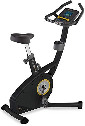 LifeSpan Fitness Upright Bike LifeSpan C5i Upright Exercise Bike, Black