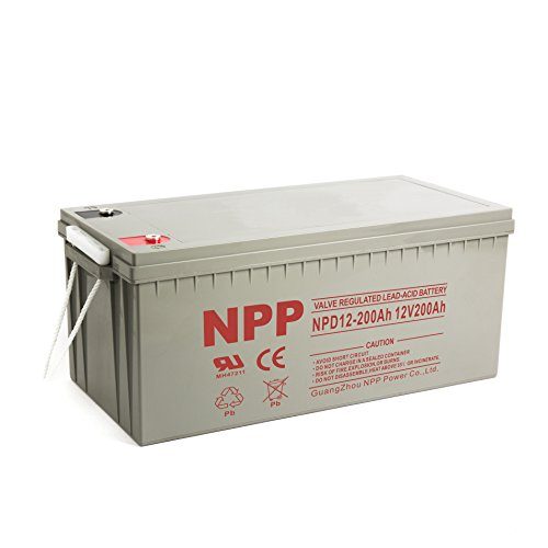 NPP NPD12-200Ah Rechargeable Deep Cycle 4D SLA 12V 200Ah Battery with Button Style Terminals