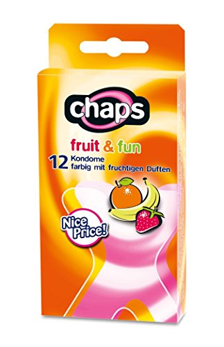 Kondome chaps fruit & fun, 24 Stück, bunter Kondom-Mix, Made in Germany