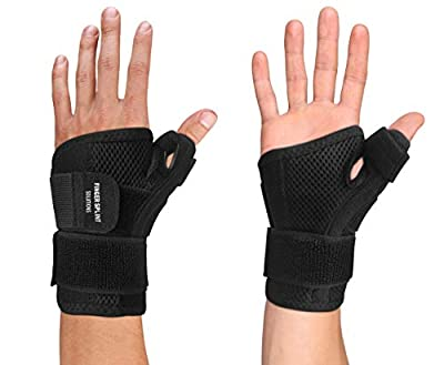 Thumb Brace - Thumb Spica Splint for Arthritis, Tendonitis and More. Fits Both Right Hand and Left Hand for Men and Women. Wrist, Hand, and Thumb Stabilizer Immobilizer. Trigger Thumbs Support Braces by Copper Compression Gear