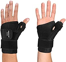 Thumb Brace - Thumb Spica Splint for Arthritis, Tendonitis and More. Fits Both Right Hand and Left Hand for Men and Women. Wrist, Hand, and Thumb Stabilizer Immobilizer. Trigger Thumbs Support Braces
