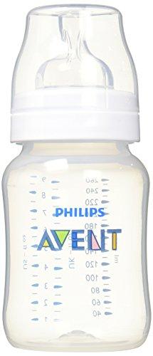 Philips Avent SCF563/17 - Biberón Classic+ de 260 ml, tetina de flujo para recién nacidos, anticólico, color transparente